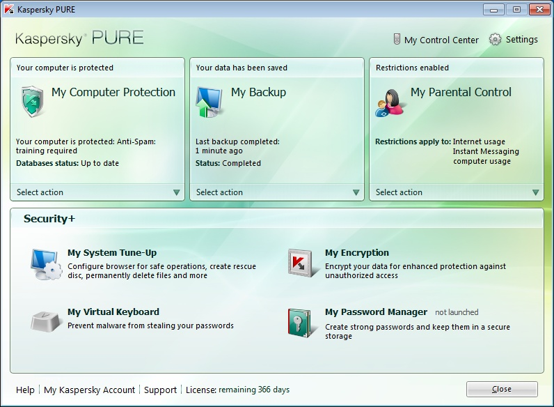 Download Kaspersky PURE Pure_s10