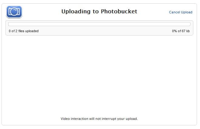 Uploading Photos Using Photo Bucket. P310