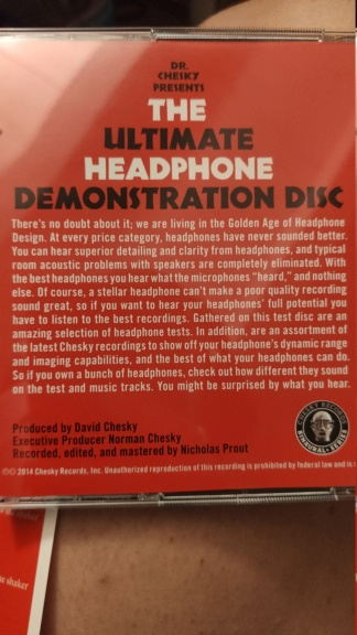 Ultimate Headphone Demonstration Disc Img_2020