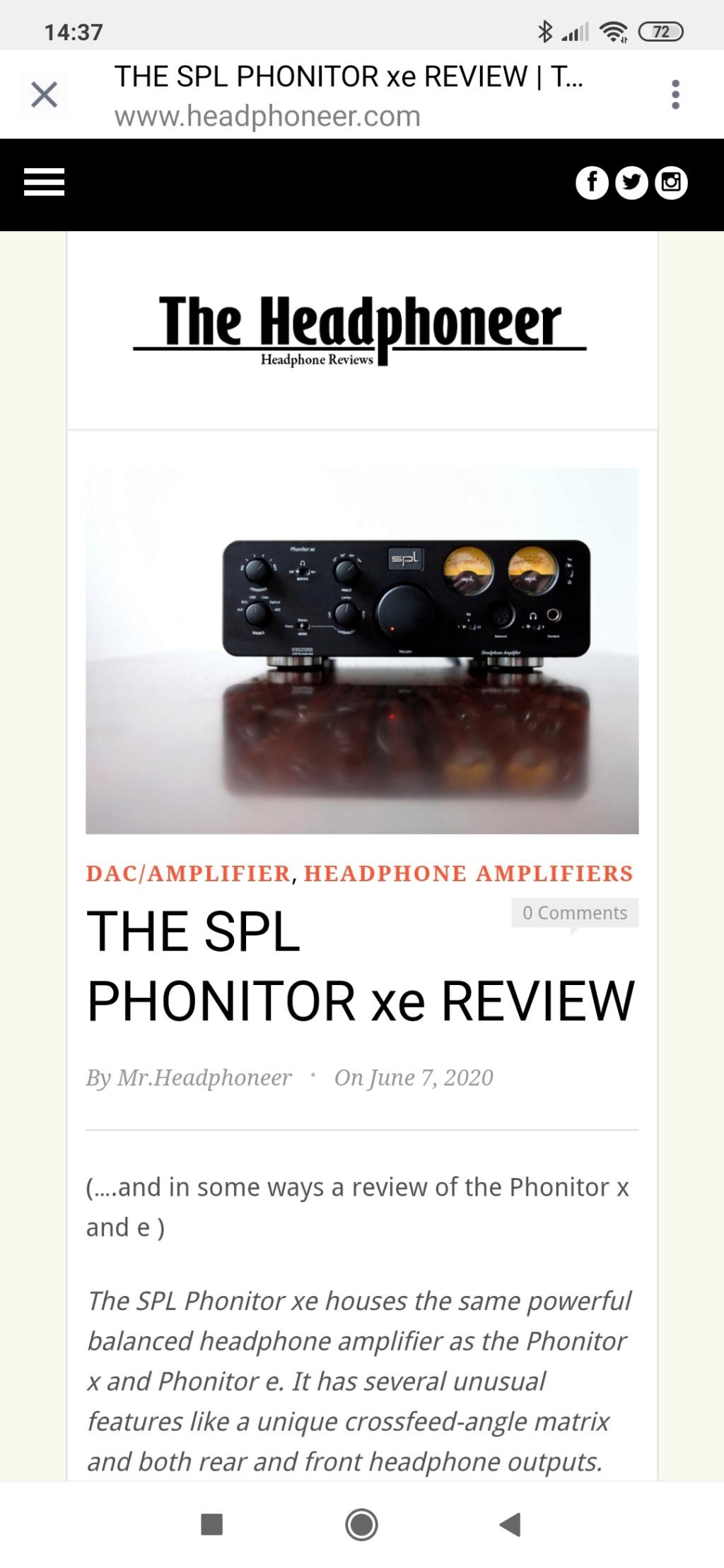 SPL Phonitor xe Screen32