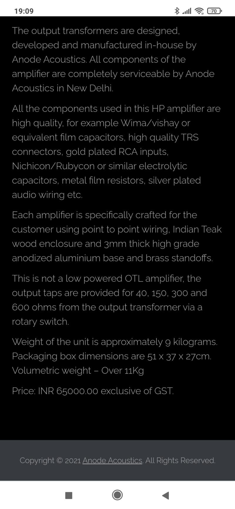 Ditelo che il Made in India ve lo eravate perso...Tube headphone Amplifier ECL82/PCL82 Screen83