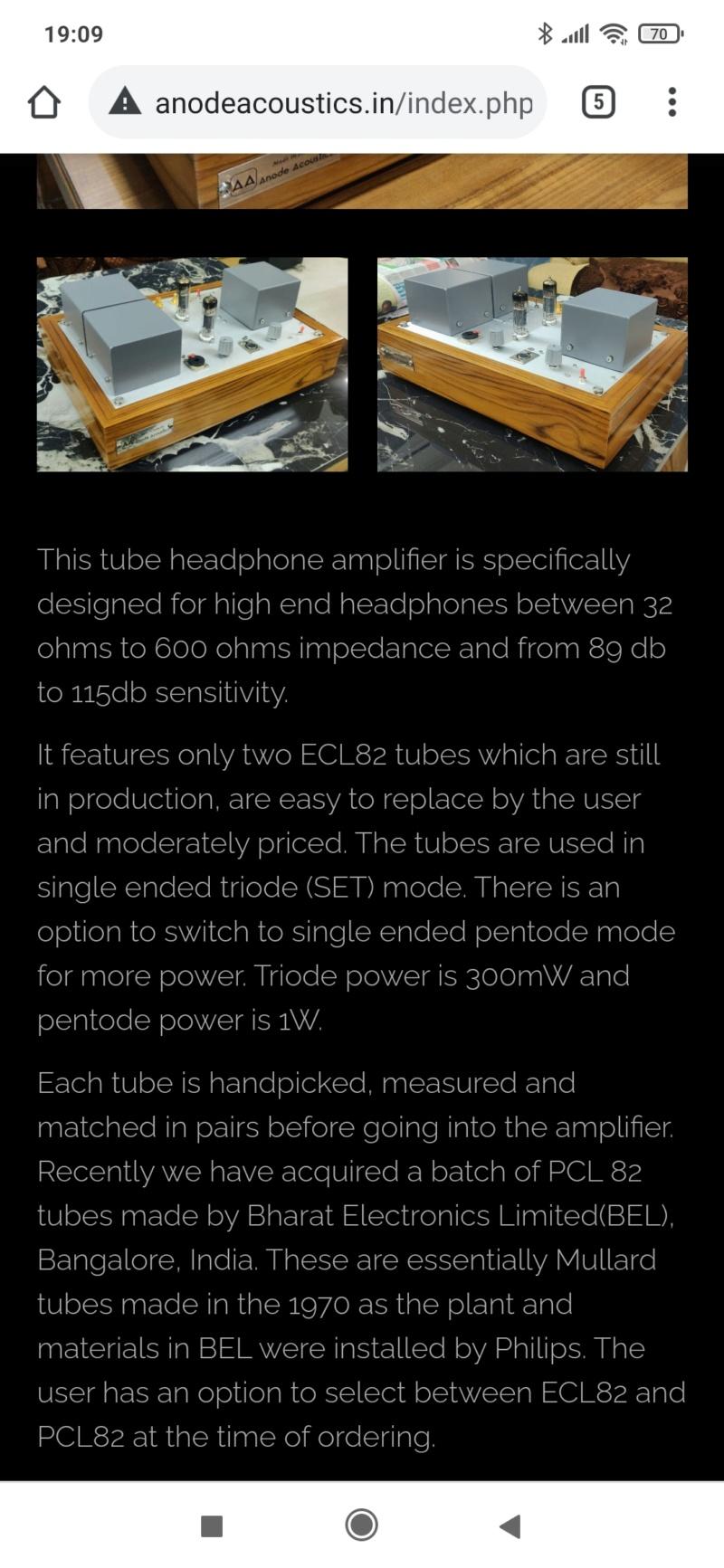 Ditelo che il Made in India ve lo eravate perso...Tube headphone Amplifier ECL82/PCL82 Screen84