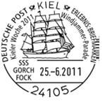 Schiffe im Stempel Unbena13