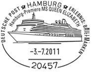 Schiffe im Stempel Unbena15