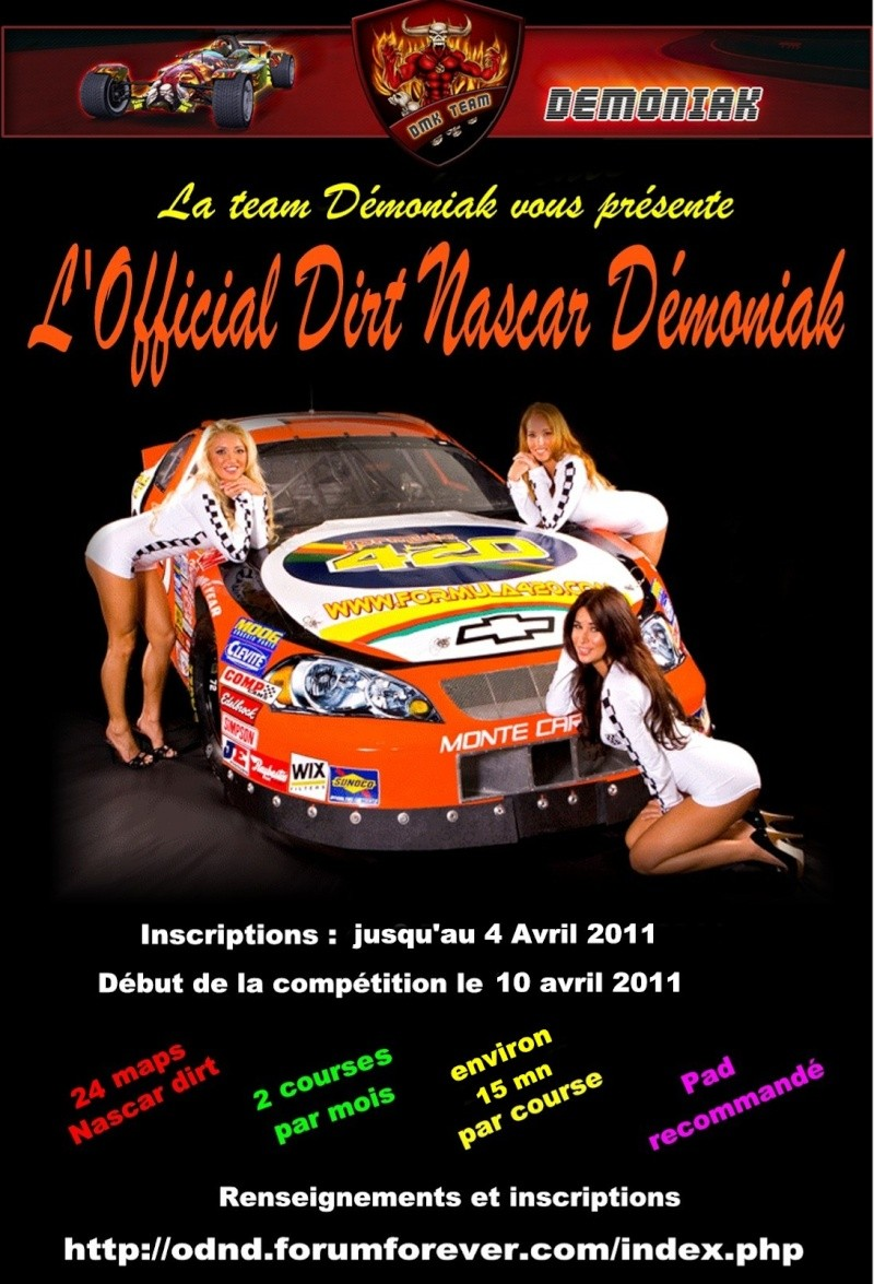 Official Dirt Nascar Démoniak - Debut 10 Avril 2011 Affich10