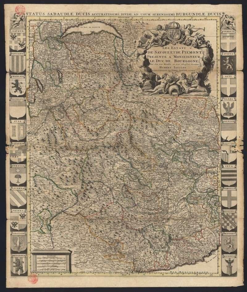 Hubert Jaillot - carte de l'Etat en 1696   - STATUS SABAUDIAE DUCIS Piem_s11
