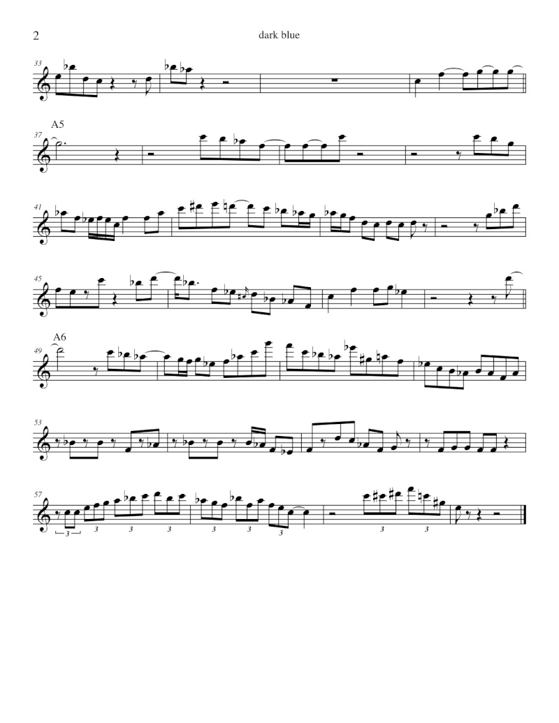 """Dark Blue"" by John Scofield transcription Dark_b11"