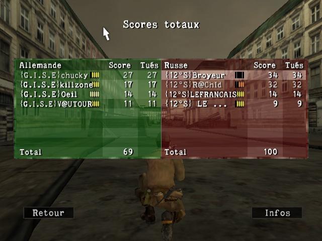 Resultats inter contre {12s} Sniper54