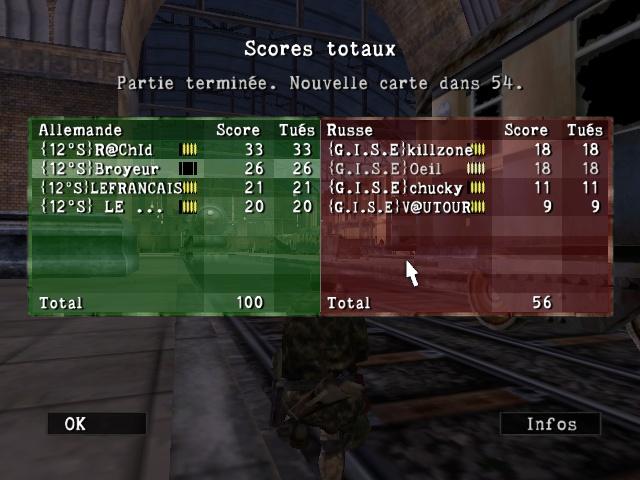 Resultats inter contre {12s} Sniper55