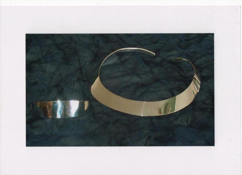 Torque et bracelet en argent forgé C3410