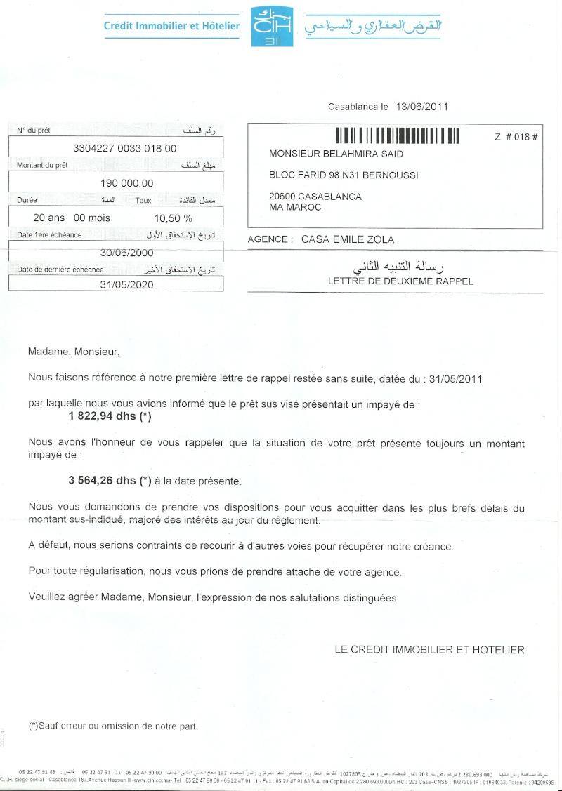 """A Monsieur le Directeur Gén""""ral de l'ONE Numari28"""