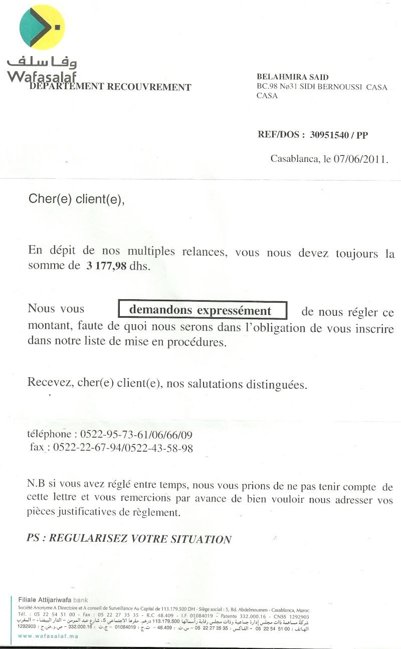 """A Monsieur le Directeur Gén""""ral de l'ONE Numari30"""