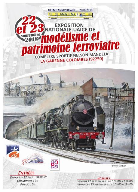 EXPO MODELISME FERROVIAIRE LES 22 ET 23 SEPT 2018. (La Garenne Colombes) Maquet10