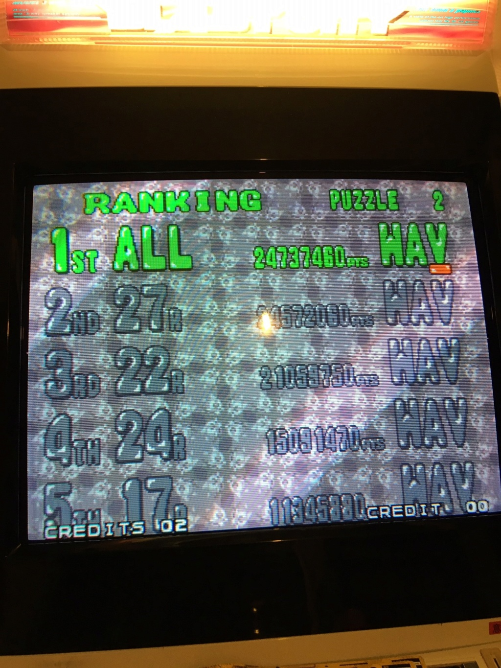 "Hiscores ""Puzzle Bobble 2"" - Page 2 Img_0310"