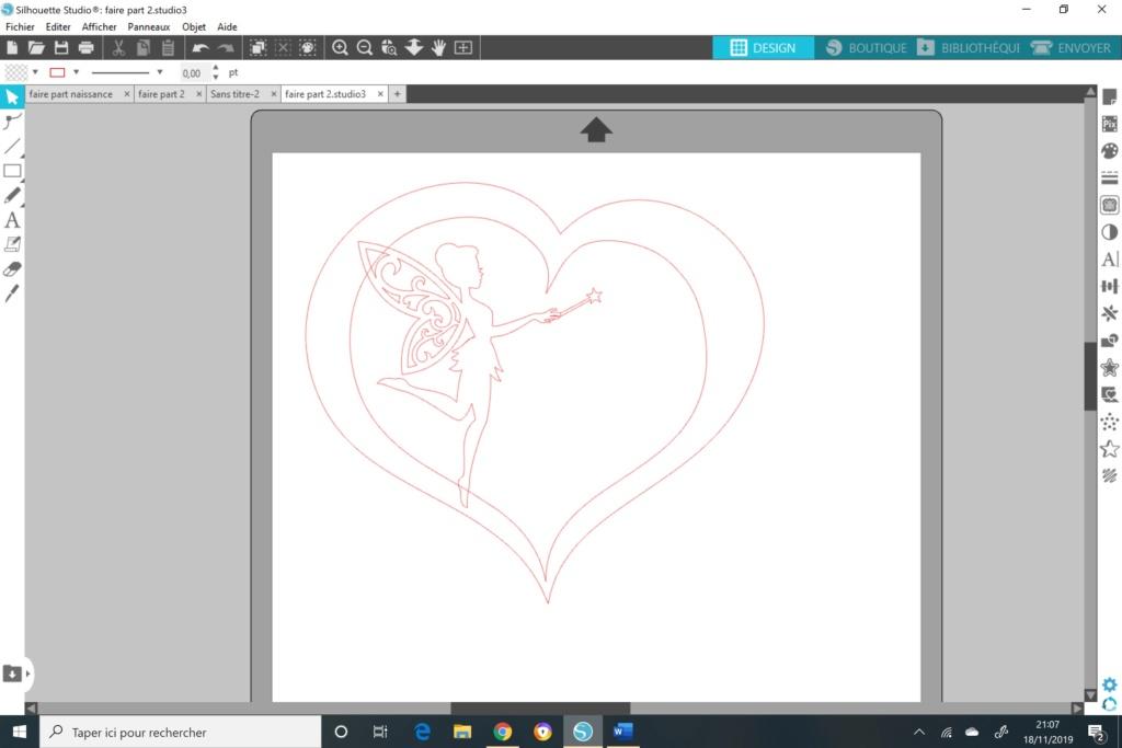 Cœur et fée pour faire part de naissance  Coeur_12