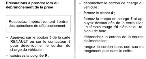 Recharge batteries: Ordre des branchements Not212
