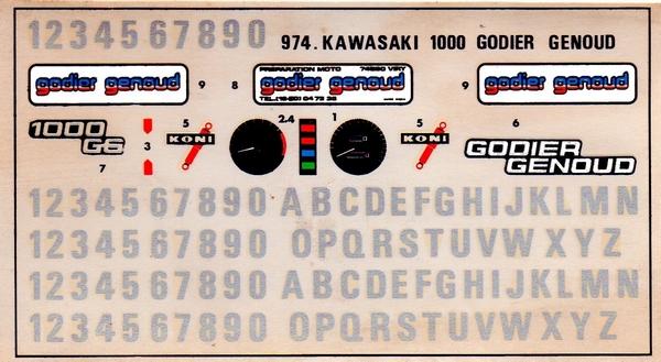KAWASAKI 1000 GODIER GENOUD 1/8eme Réf 974 - Page 5 Decals11