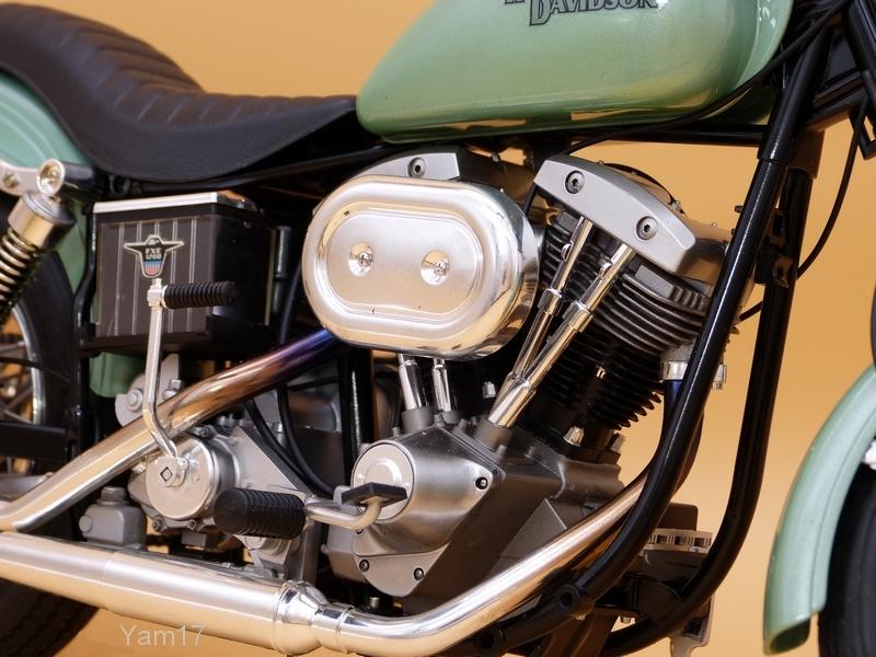 Harley-Davidson FXE Super Glide [Tamiya, 1/6] Hd_611