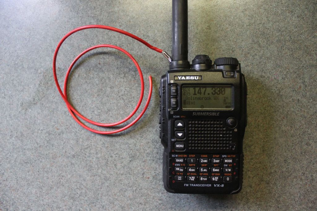 Extend the Range of your 2M HT Ham Radio by using a Counterpoise Counte10