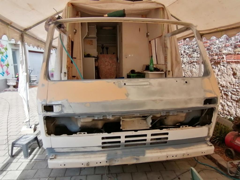 Restauration d'un vw LT camping-car fabrication C.Voisin  15410