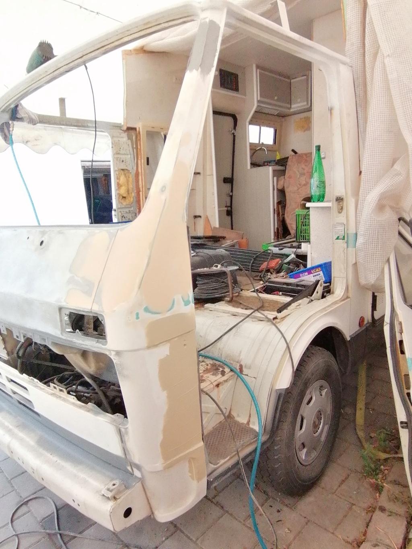 Restauration d'un vw LT camping-car fabrication C.Voisin  15610