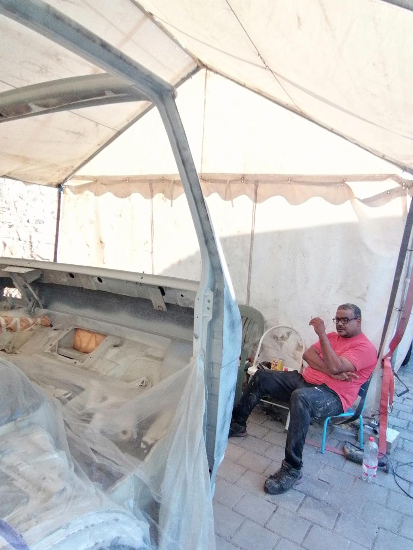 Restauration d'un vw LT camping-car fabrication C.Voisin  16010