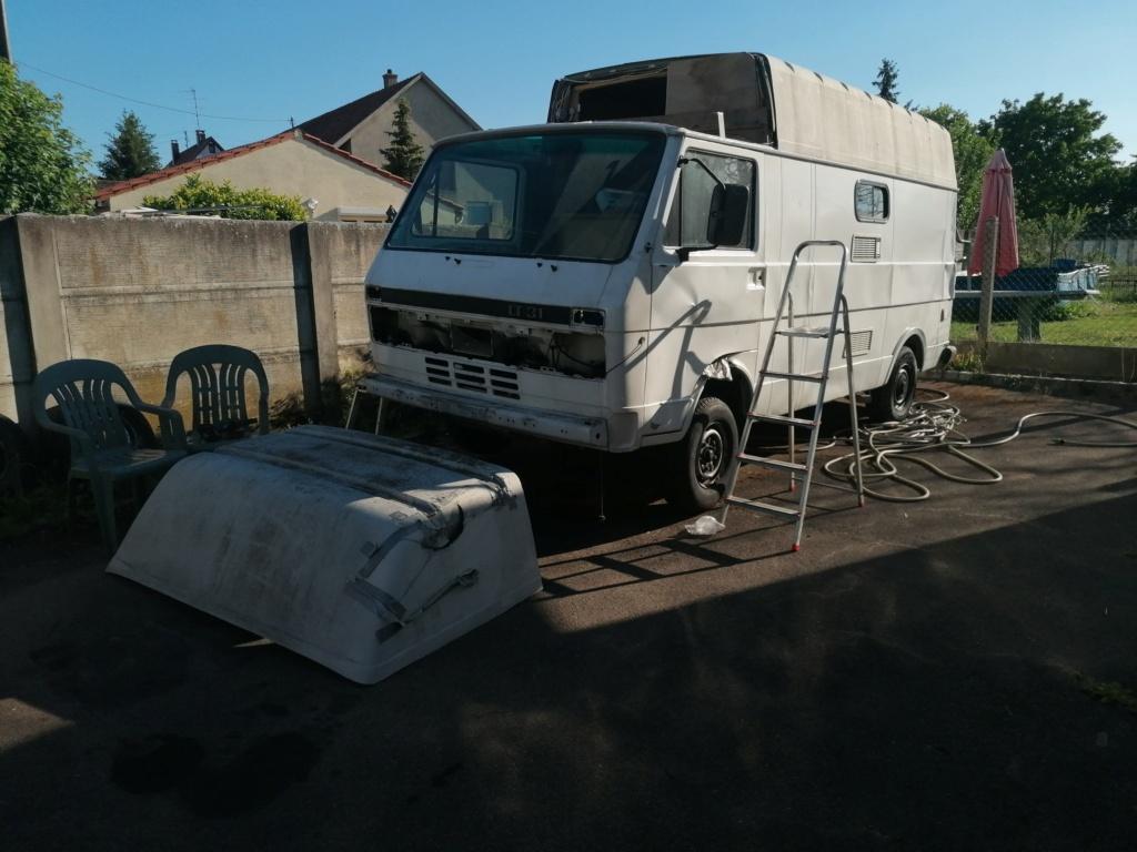 Restauration d'un vw LT camping-car fabrication C.Voisin  6510