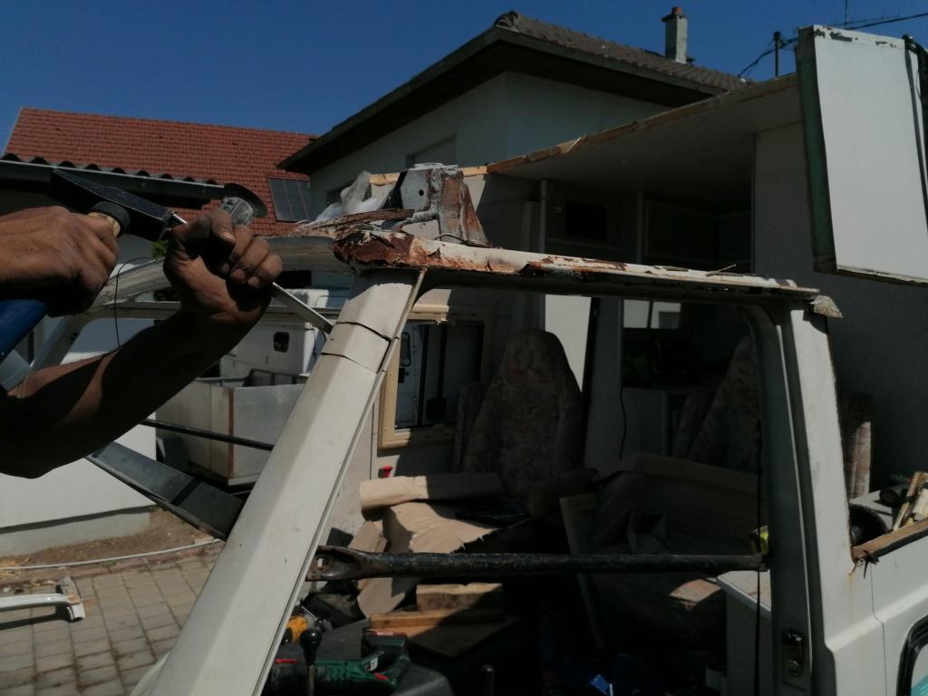 Restauration d'un vw LT camping-car fabrication C.Voisin  7210