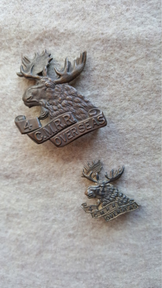 4 C.M.R.R Cap badge 20180713