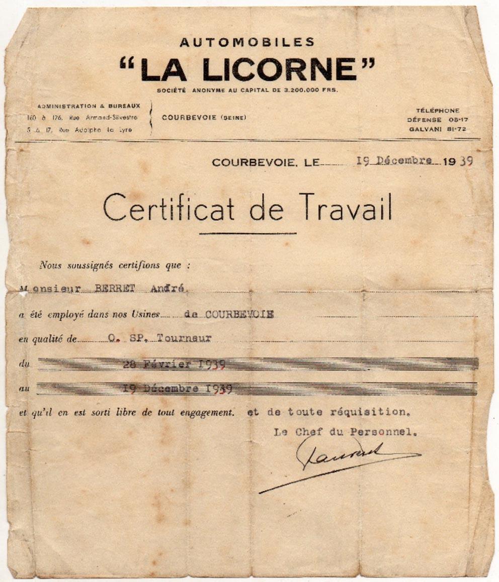 Personnel usine Corre La Licorne Certif10