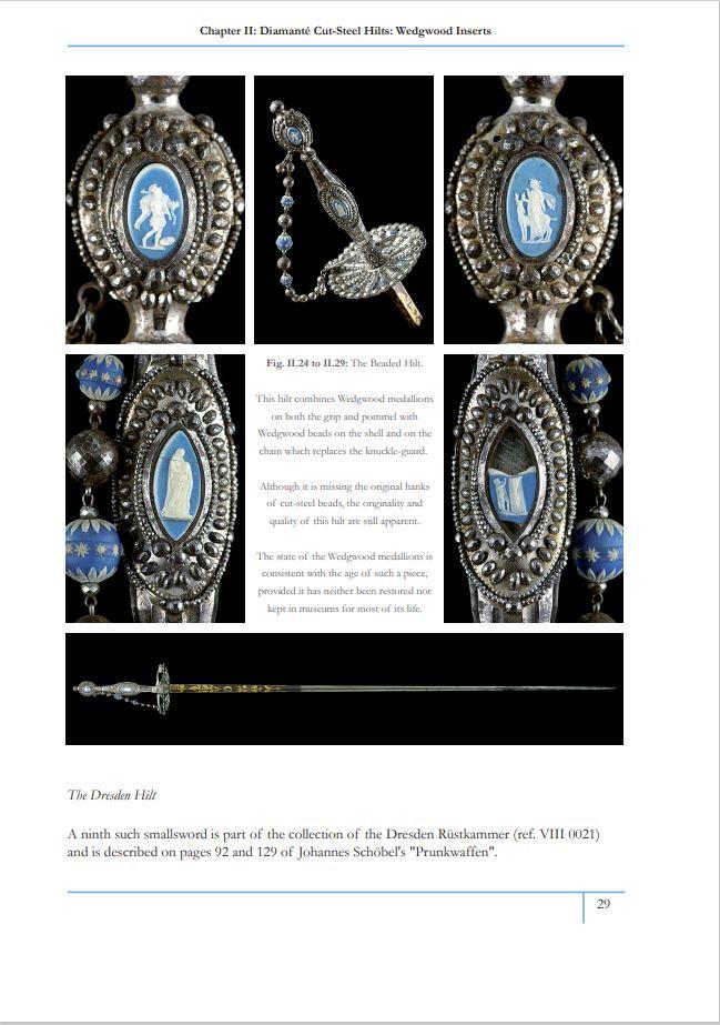 Nouveau livre sur les épées et sabres décorés d'acier facetté 2910
