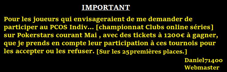 Mot de passe Tournoi ABCPOKERinfo sur pokerstars le 28/02 à 21h00 Avismt12