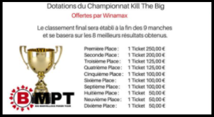 "Championnat "" BMPT Kill The BIG "" sur Winamax Le 08/03 à 21h00 Dotati11"