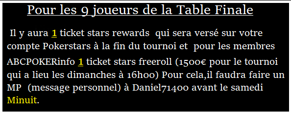 Tournoi ABCPOKERinfo sur pokerstars le 14/08  à 21h00  Messag15