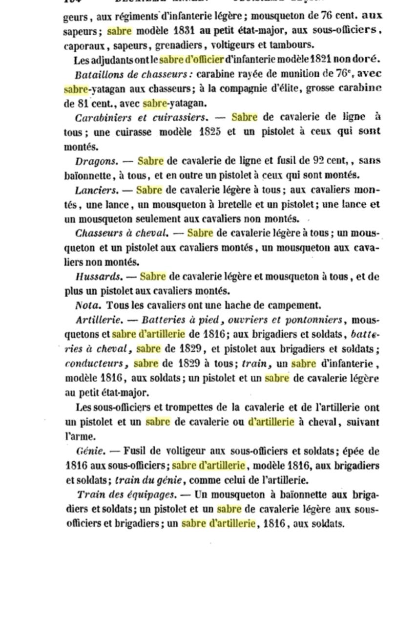 Sabre d'officier d'artillerie modèle 1829 : réglementaire ? 20191011