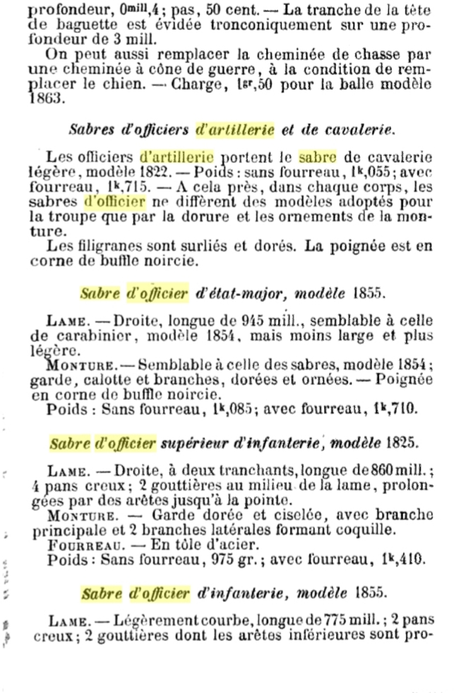 Sabre d'officier d'artillerie modèle 1829 : réglementaire ? 20191013