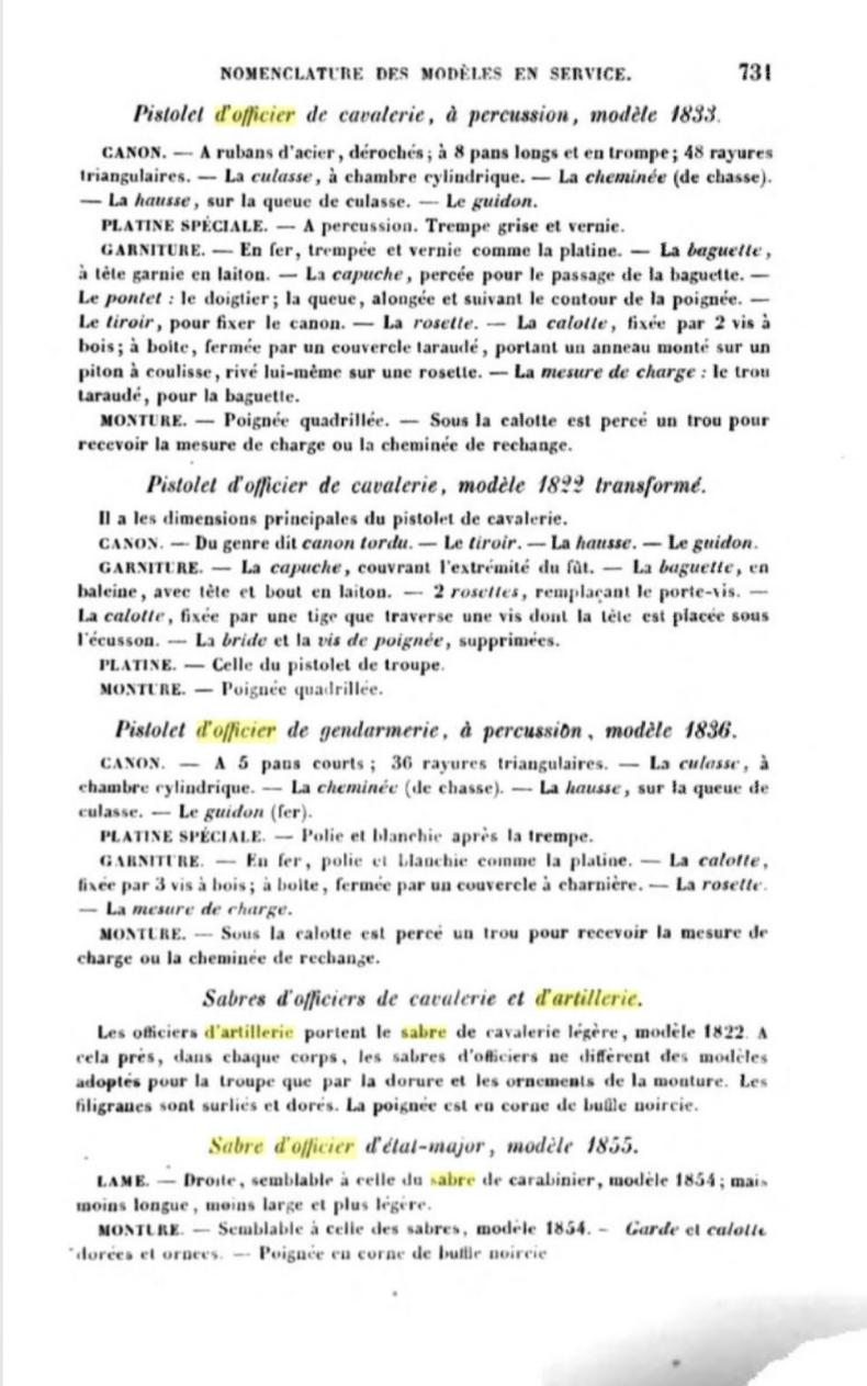 Sabre d'officier d'artillerie modèle 1829 : réglementaire ? 20191015