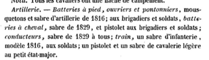 Sabre d'officier d'artillerie modèle 1829 : réglementaire ? 20191016