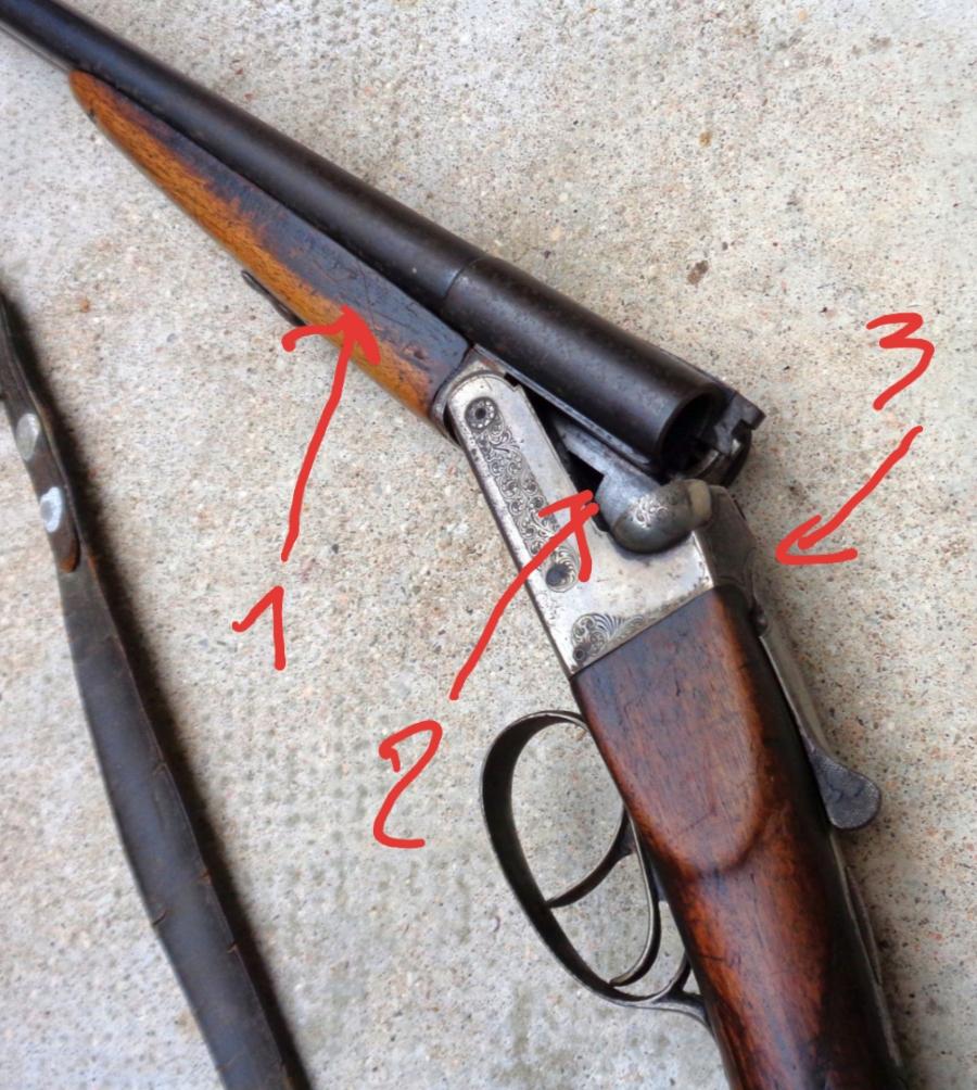 Demande d'identification du millésime et du fabricant d'un fusil de chasse  20200534