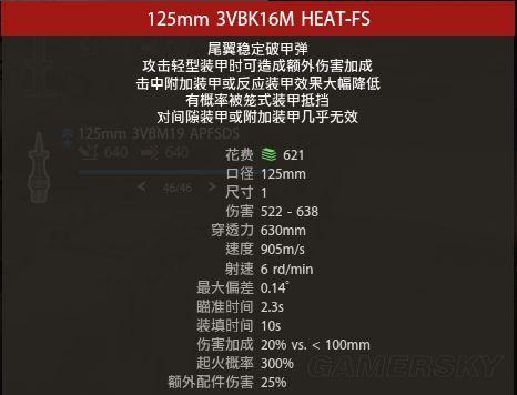 Armored Warfare 各種彈頭作用說明 Heat10