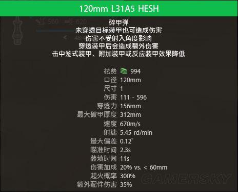 Armored Warfare 各種彈頭作用說明 Hesh10