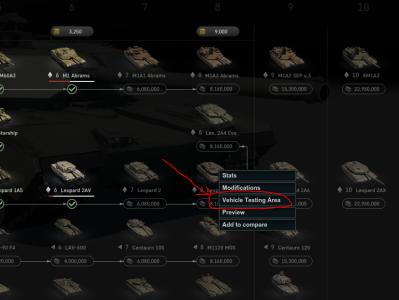 Armored Warfare 買車前可以試乘 Try10