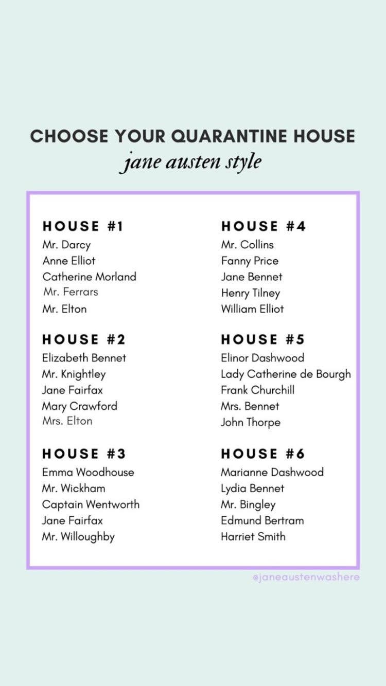 "Jane Austen : ""choose your quarantine house !"" Unname10"