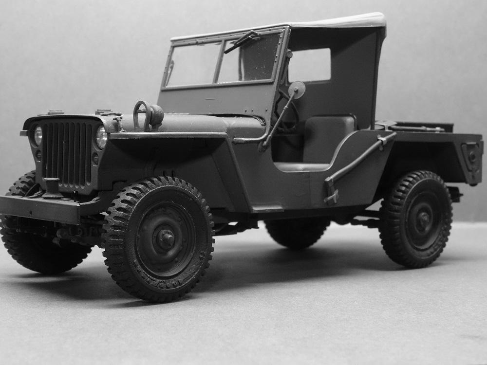 JEEP WILLYS MLW-2 kit de base ITALERI N° 6355 1/24 Jeep-m11