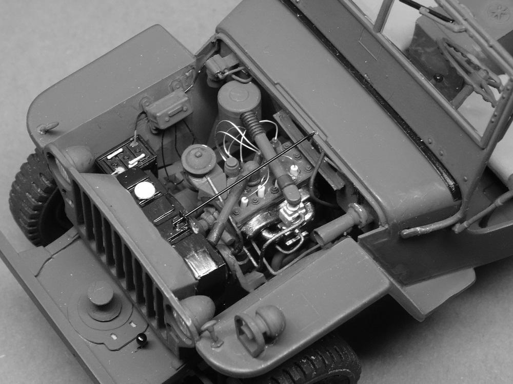 JEEP WILLYS MLW-2 kit de base ITALERI N° 6355 1/24 Jeep-m17