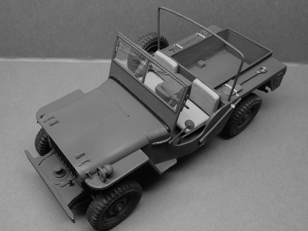 JEEP WILLYS MLW-2 kit de base ITALERI N° 6355 1/24 Jeep-m18