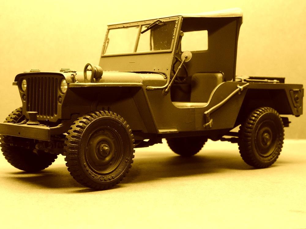 JEEP WILLYS MLW-2 kit de base ITALERI N° 6355 1/24 Jeep-m19