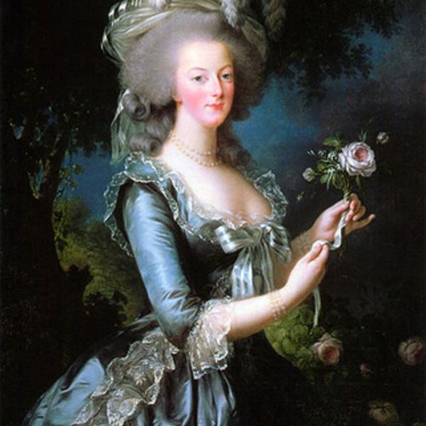 """Portrait de Marie-Antoinette à la rose (dans la série """"Haïkus de pinceau"""") Marie-10"""