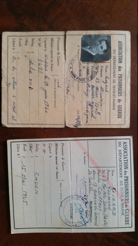 cartes prisonnier de guerre FR ww2 20210120