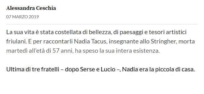 Addio Nadia TACUS Nad10